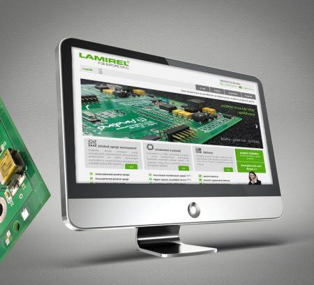Webová prezentace společnosti Lamirel