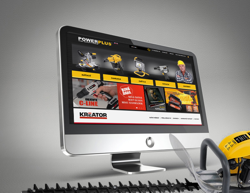 Webová prezentace produktové značky Powerplus a Kreator